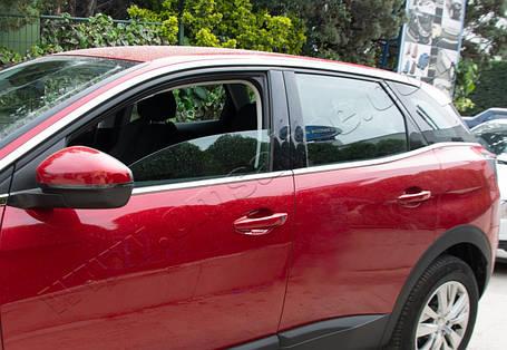 Peugeot 3008 2016↗ Нижние молдинги стекол Carmos Пежо 3008, фото 2