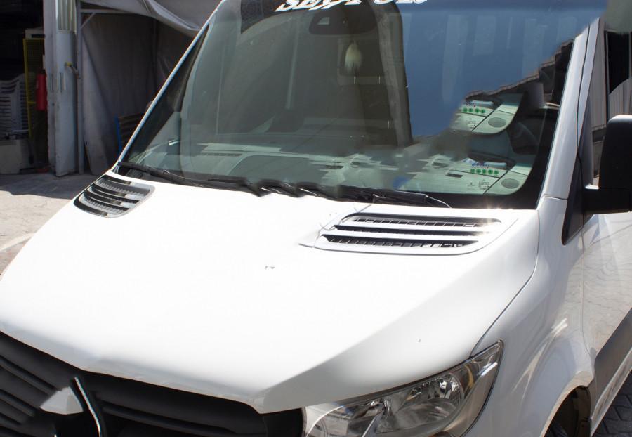 Накладки на воздухозаборник (2 шт, нерж) Mercedes Sprinter 2018↗ гг. Мерседес Бенц Спринтер