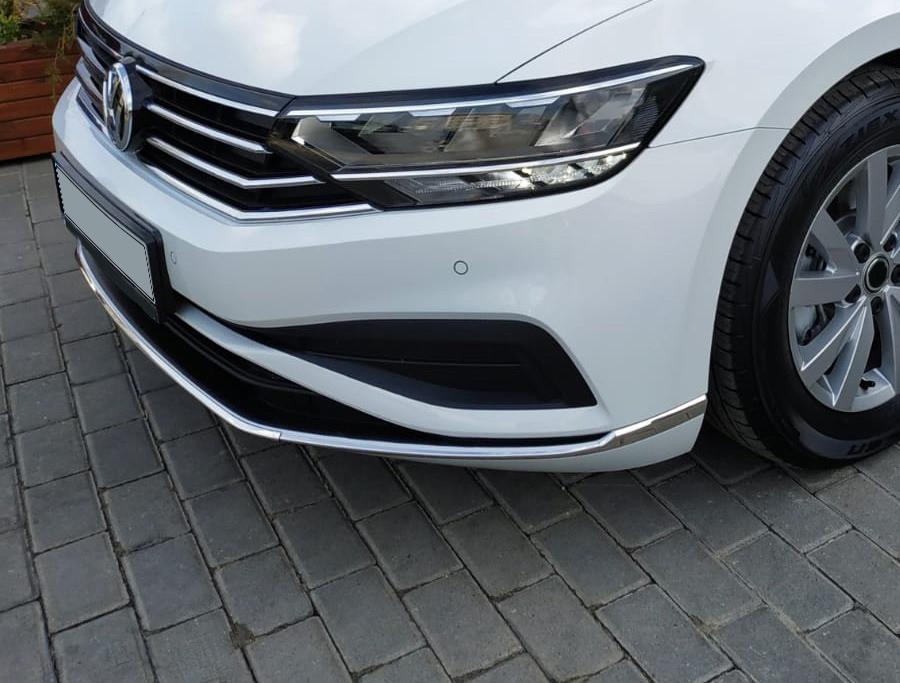 Volkswagen Passat B8 2019+ Накладки на передний бампер Carmos Фольксваген Пассат