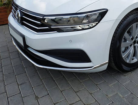Volkswagen Passat B8 2019+ Накладки на передний бампер Carmos Фольксваген Пассат, фото 2