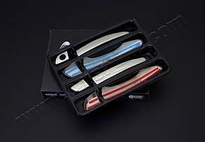 Накладки на ручки OmsaLine (4 шт, нерж) Citroen DS-5 Ситроен ДС-5, фото 2