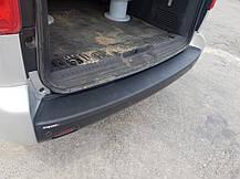 Накладка на задний бампер EuroCap (ABS) Toyota Proace 2017↗ гг. Тойота Проэйс, фото 3