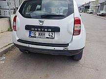 Накладка на задний бампер EuroCap (ABS) Dacia Duster 2008-2018 гг. Дачиа Дастер, фото 3