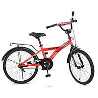Велосипед детский красный 20 дюймов с передним и задним тормозом PROF1 T2031 Racer,звонок,подножка