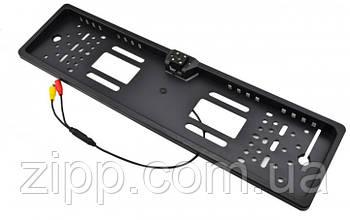 Авто рамка для номерного знака со встроенной камерой, 4 светодиода, LED-подсветка, черная/black