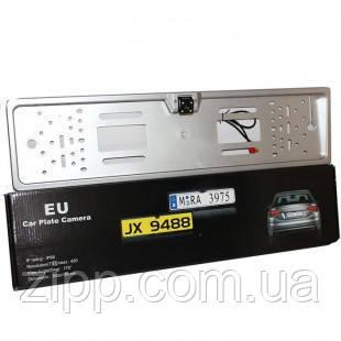 Камера заднего вида в рамке номерного знака автомобиля, Камера в номерной рамке авто, Рамка для номера