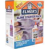 Elmer's Набор клея для создания фиолетовых слаймов слайм 2022922 Slime Starter Kit Purple Glitter Clear, фото 2