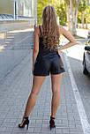Шорти жіночі чорні шкіряні Style-nika Пунто., фото 4