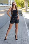 Шорти жіночі чорні шкіряні Style-nika Пунто., фото 2