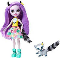 Кукла Enchantimals лемур Лариса Лемури и Ринглет Larissa Lemur Ringlet