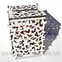 Свадебная Казна для Денег Деревянная коробка сундук копилка на свадьбу ЛДВП Весільна скарбниця для грошей