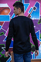 Свитер мужской 117R007(7206) цвет Черный, фото 3