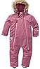 Зимний термокомбинезон Topolino Тополино для девочки 86, 92, 98 см сдельный розовый с меховой опушкой