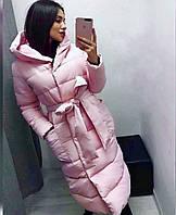 Пальто, Ткань: Плащёвка, р-р 42-44, 46-48, цвет ( Марсала, Чёрный, Тёмно-синий, Хаки, Розовый )