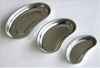 Лоток медицинский металлический почкообразный 100млл 160х70х25мм