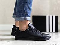 Кросівки чоловічі в стилі Adidas Stan Smith чорні