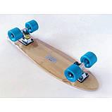 Пенни борд FISH деревянный, бамбуковый, Скейт Penny Board с широкими колесами, пенниборд детский, фото 5