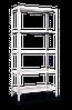 Стеллаж МКП М301 на болтовом соединении (2160х1000х400)