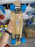 Пенни борд FISH деревянный, бамбуковый, Скейт Penny Board с широкими колесами, пенниборд детский, фото 8