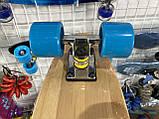 Пенни борд FISH деревянный, бамбуковый, Скейт Penny Board с широкими колесами, пенниборд детский, фото 10