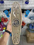 Пенни борд FISH деревянный, бамбуковый, Скейт Penny Board с широкими колесами, пенниборд детский, фото 6
