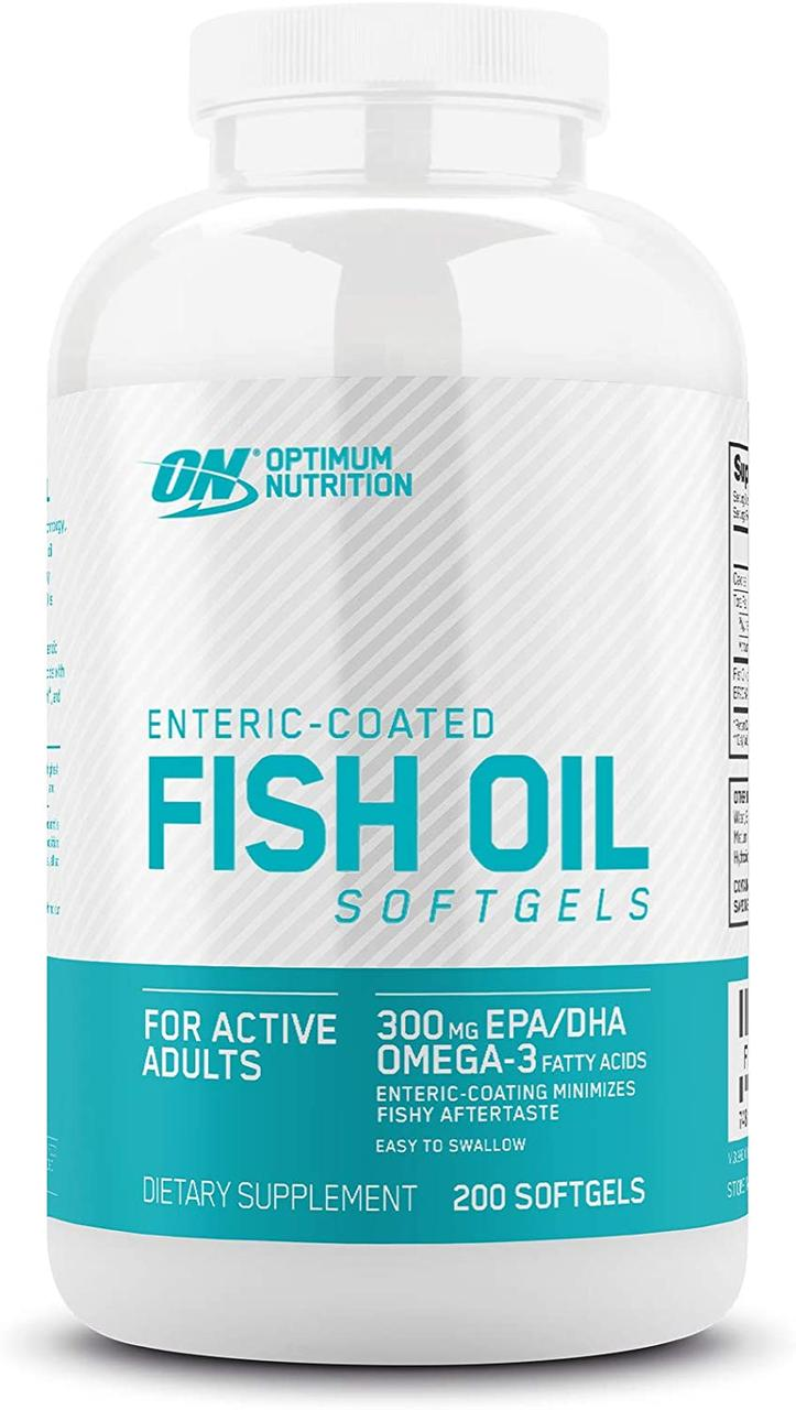 Рыбий жир Optimum Nutrition Fish Oil (200 капс) омега 3 оптимум нутришн