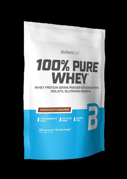 Сывороточный протеин концентрат BioTech 100% Pure Whey (454 г) биотеч пур вей banana