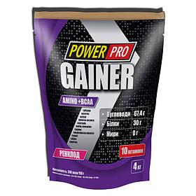 Гейнер для набора массы Power Pro Gainer (4 кг) павер про бразильський горіх