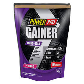 Гейнер для набора массы Power Pro Gainer (4 кг) павер про ренклод