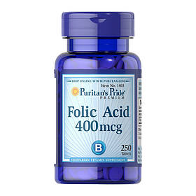 Фолієва кислота Puritan's Pride Folic Acid 400 mcg (250 таб) пуританс прайд