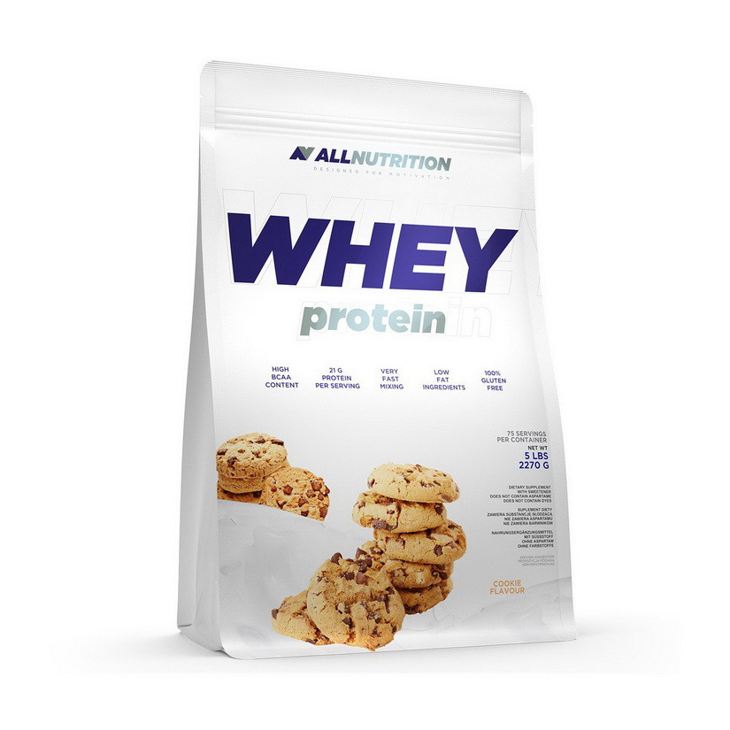 Сывороточный протеин концентрат All Nutrition Whey Protein (2,27 кг) алл нутришн вей caramel