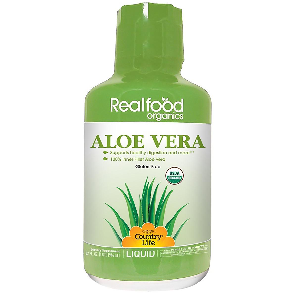 Жидкий Алое Вера, Aloe Vera Liquid, Country Life, 944 мл