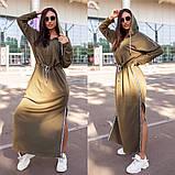 Длинное платье в спортивном стиле с капюшоном 15-747, фото 2