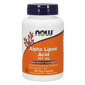 Альфа-ліпоєва кислота Now Foods Alpha Lipoic Acid 100 mg (120 капсул) нау фудс