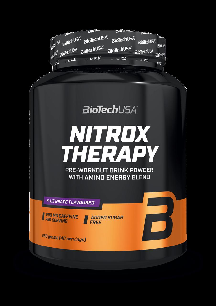Предтреник BioTech Nitrox Therapy (680 г) биотеч нітрокс blue grape