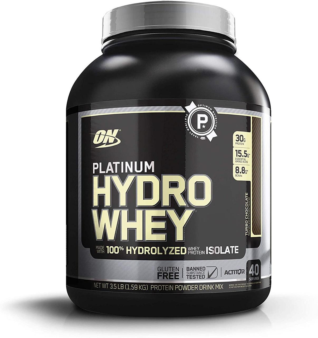 Сывороточный протеин гидролизат Optimum Nutrition Platinum Hydro Whey (1,6 кг) платинум вей клубника