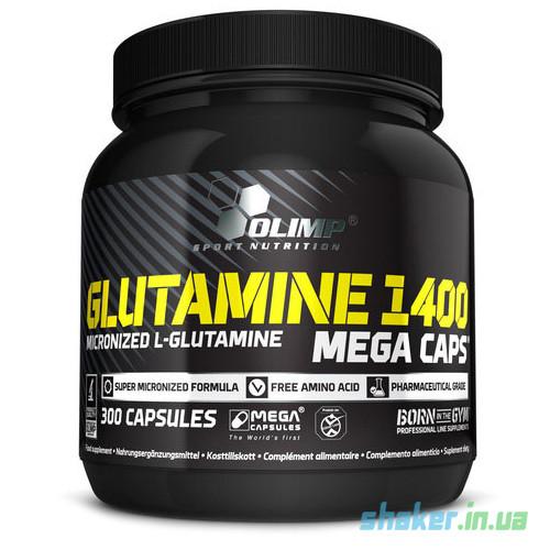 Глютамин Olimp L-Glutamine 1400 Mega Caps (300 капс) олимп мега капс