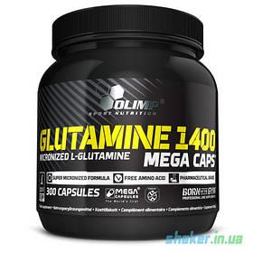 Глютамін Olimp L-Glutamine 1400 Mega Caps (300 кап) олімп мега капс