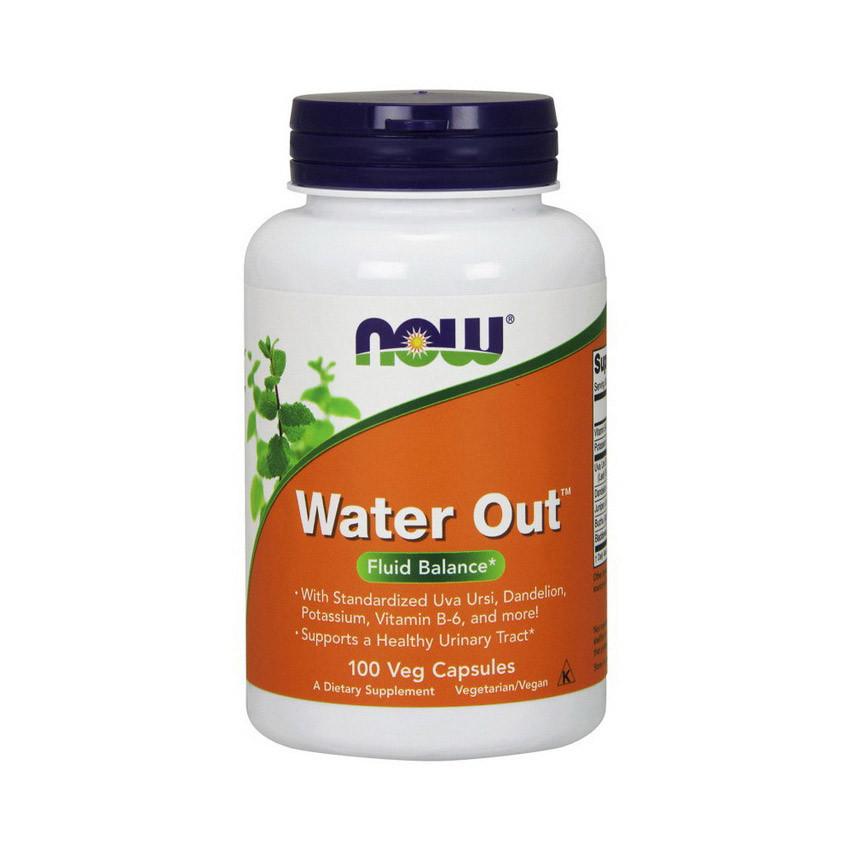 Натуральний діуретик Now Foods Water Out (100 капс) нау фудс
