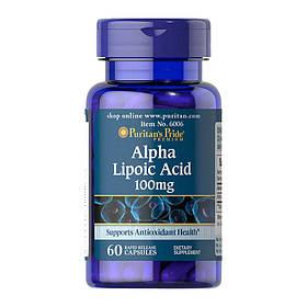 Альфа-ліпоєва кислота Puritan's Pride Alpha Lipoic Acid 100 mg (60 капсул) пуританс прайд