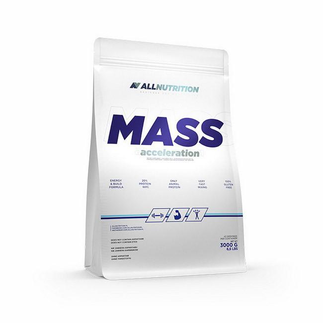 Гейнер для набора массы AllNutrition Mass Acceleration (3 кг) алл нутришн vanilla