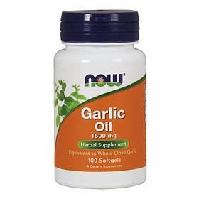 Экстракт чеснока NOW Garlic Oil 1500 mg (100 капс) нау фудс