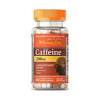 Кофеин Puritan's Pride Caffeine 200 mg (60 капс) пуританс прайд