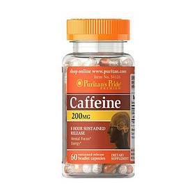 Кофеїн Puritan's Pride Caffeine 200 mg (60 капс) пуританс прайд