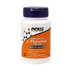 Л-теанін Now Foods L-Theanine 200 mg (60 капс) нау фудс