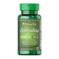 Спирулина Puritan's Pride Spirulina 500 mg (100 таб) пуританс прайд