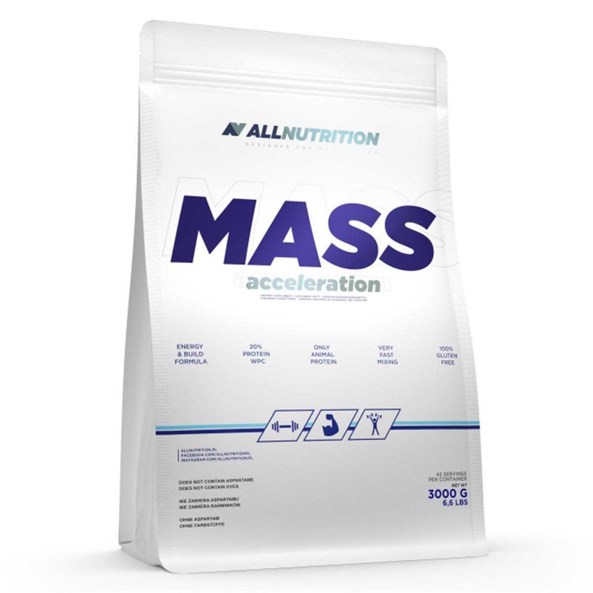Гейнер для набора массы AllNutrition Mass Acceleration (3 кг) алл нутришн cappuccino