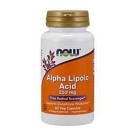 Альфа-ліпоєва кислота Now Foods Alpha Lipoic Acid 250 mg (60 капсул) нау фудс