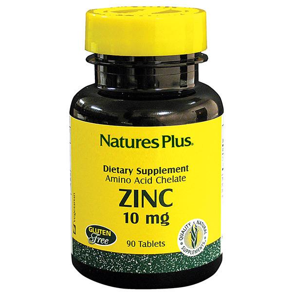 Цинк 10мг, Natures Plus, 90 таблеток