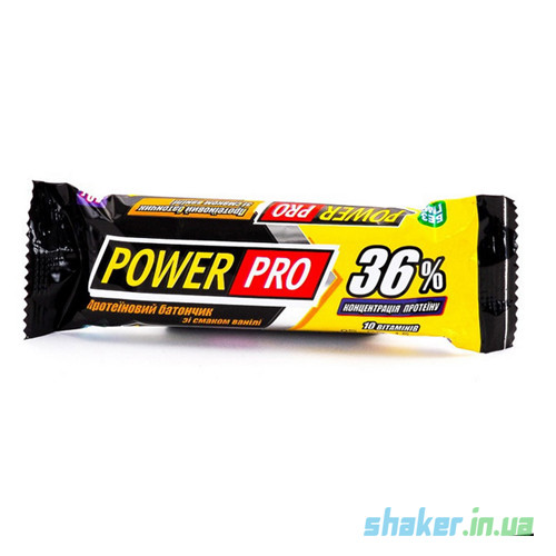 Протеиновый батончик Power Pro 36% (60 г) павер про ваниль